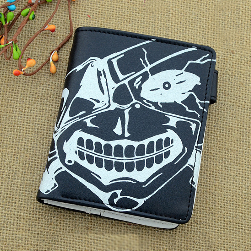 Tokyo Ghoul Wallet Coin Pouch Ken Kaneki Short Money Wallet for Men Women Billfold Zipper Purses Credit Card Holder