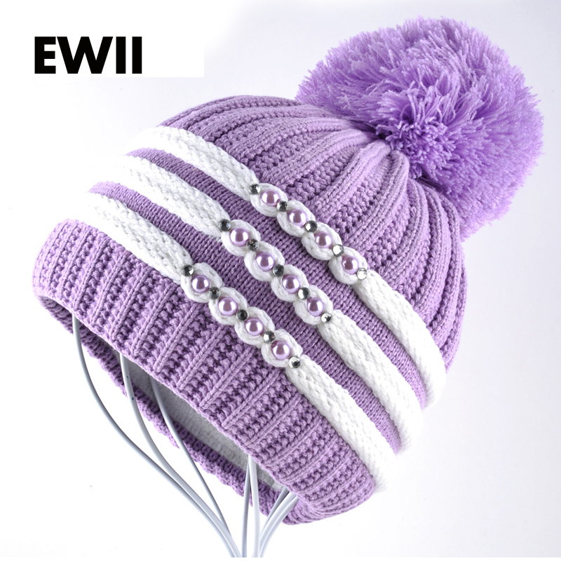 Woman winter beanies bonnet ladies winter cap girl knitted hats for women beanie caps skullies ladies knit wool hat gorro bone women bonnet beanie raccoon fur pom poms wool hat knitted skullies fashion caps ladies knit cap winter hats for women beanies