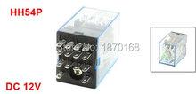 DC12V 24 V 36 V 48 V 110 V 220 V DC 12 V Coil 5A 240VAC 28VDC estafet elektromagnetik, Hh54p 14 Pin 4PDT v v trio
