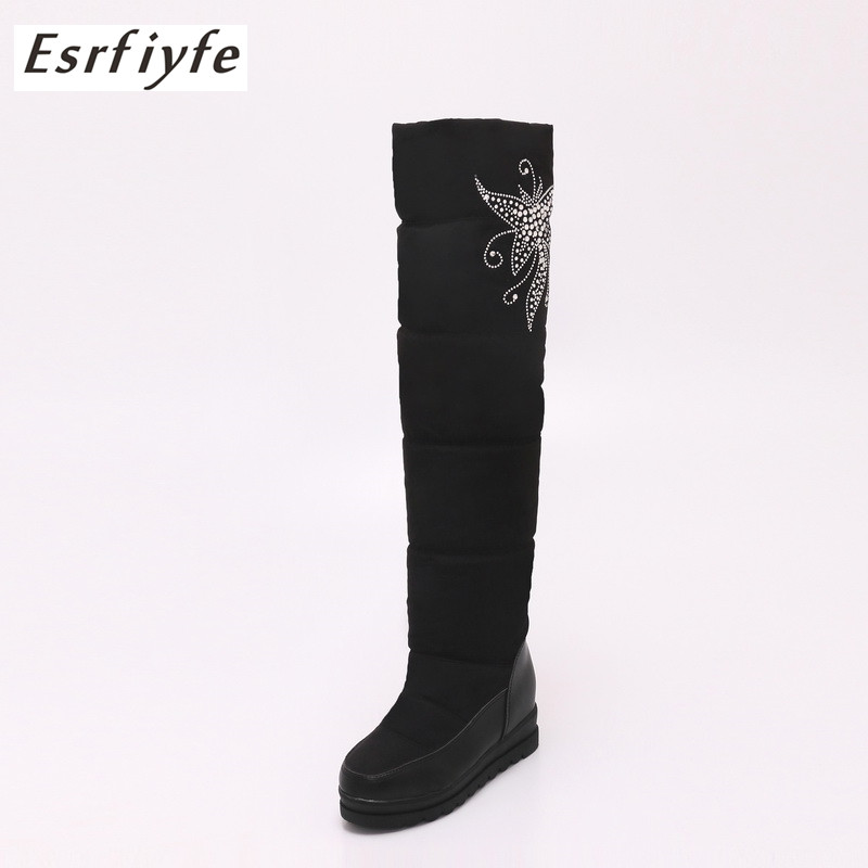 f4edb5554d73 ... 2018 New Winter Women Snow Boots Plush Warm Shoes Plus Size 34 To Big 43  Easy Wear Girl White Down Shoes Female Boots on Aliexpress.com