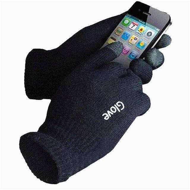 Мода сенсорный экран Перчатки мобильный телефон смартфон Перчатки вождения перчатки экран подарок для мужчины женщины зимние теплые перчатки