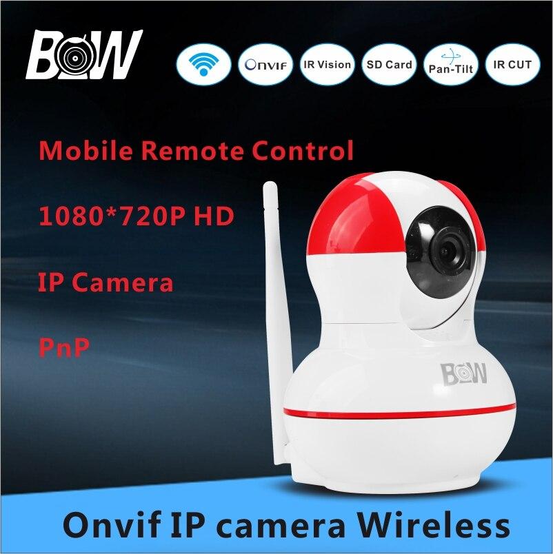 ФОТО Wifi Camera IP Baby Monitor Infrared Camera Night Vision 720P HD Network Wireless Camera Home Security Alarm Sensor BW-IPC012R