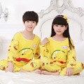 New Listing Autumn Cartoon MILK Pijamas Boys Girls Pyjamas Cute Children Clothes Set Girls Pajamas Set Sleepwear&Nightwear