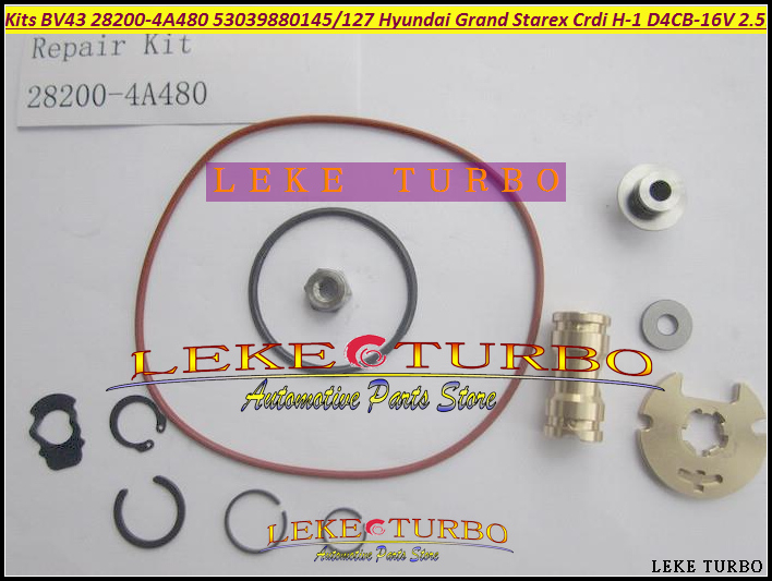 Free Ship Turbo Rebuild Repair kit BV43 28200-4A480 53039880145 Turbocharger For Hyundai Grand Starex CRDI H-1 07- D4CB 16V 2.5L free ship td05h td05h 14g 10 49178 03123 28230 45100 49178 03122 turbo for hyundai truck mighty ii d4da 4d34ti 3 9l turbocharger