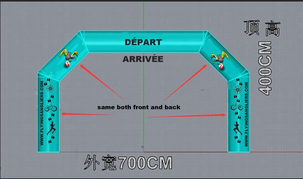 Multi-function надувная АРКА 16 цветов меняющая свет надувная АРКА ночной надувной старт линия или финишная линия дневного света
