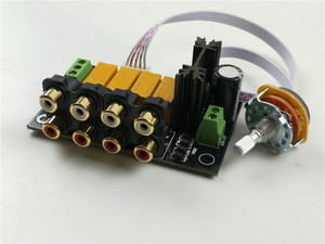 Image 3 - hifi Lossless audio 4 pairs RCA input Source Selector Signal Selector Switching Switcher Switch Splitter For Preamp Amplifier
