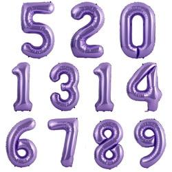 40 polegadas roxo vermelho macaron balão, número balão 0 1 2 3 4 5 6 7 8 9 números bebê decoração de chá, aniversário, festa de casamento
