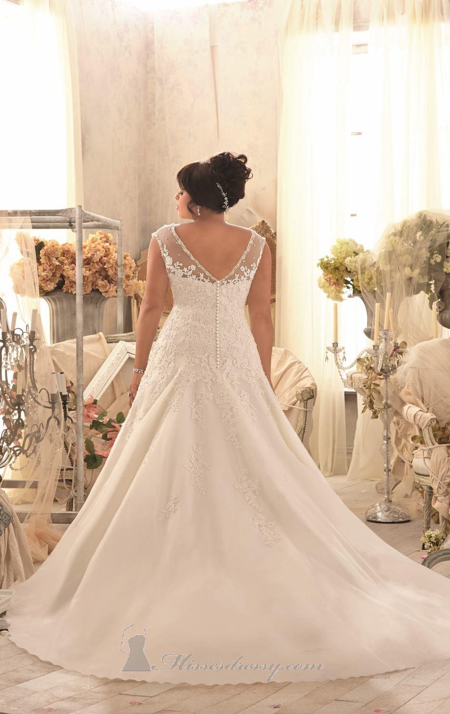 7eba0552a6 A line Cap Sleeve Tulle Designer Gorgeous Wedding Gown ,Plus Size ...