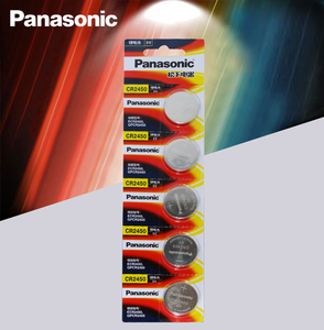 5pcs New Original Panasonic CR2450 CR 2450 3V Lithium Button Cell Battery Coin Batteries For Watches,clocks,hearing aids(China)