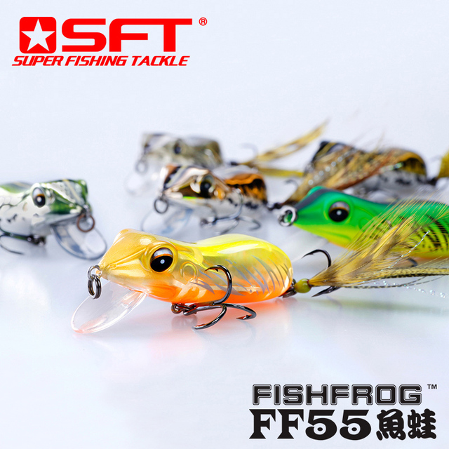 SFT New Type Simulation Frog Fishing Lure Bass Sneakhead Bait Submerged/Floating Fishing Lures Artifical Fishfrog Fishing Lures