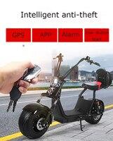 Citycoco Elektrische Roller Fabrik 1000W Abnehmbare Lithium Batterie Ein Taste Starten Doppel Rücksitz Bremse Licht Lagerung Box-in Elektro-Scooter aus Sport und Unterhaltung bei