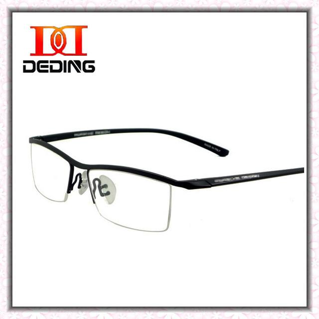 De negócios de moda leve flexível homens metade aro óculos de titânio quadro de miopia óculos DD0751