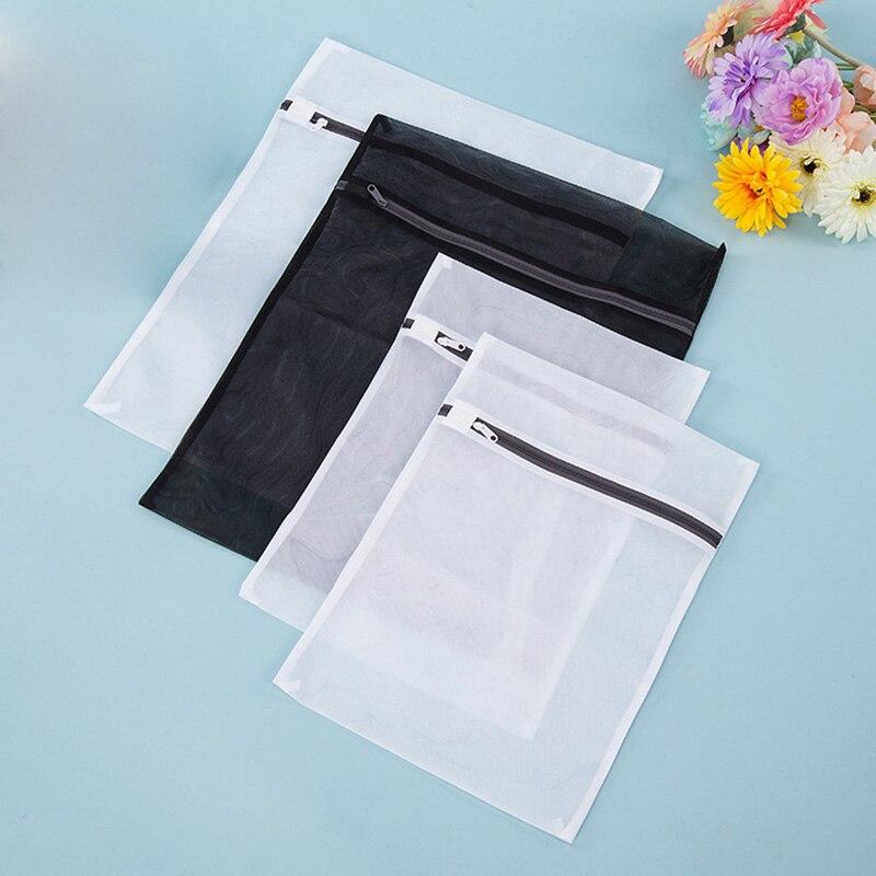 Hot 4 Pcs/ Set Mesh Zipper Laundry Bags Bra Lingerie Wash Bag Travel Storage Simple Houseware MDD88