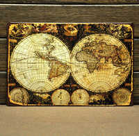 [ Mike86 ] Vintage World Map Tin signs House Office PUB Bar Metal Iron Painting B-9 Mix order 20*30 CM