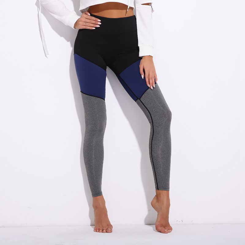 Pants Women Gym Sport Leggings Patchwork Skinny Fitness Tights Breathable Training Capris Running Trousers Jogging Jeggin