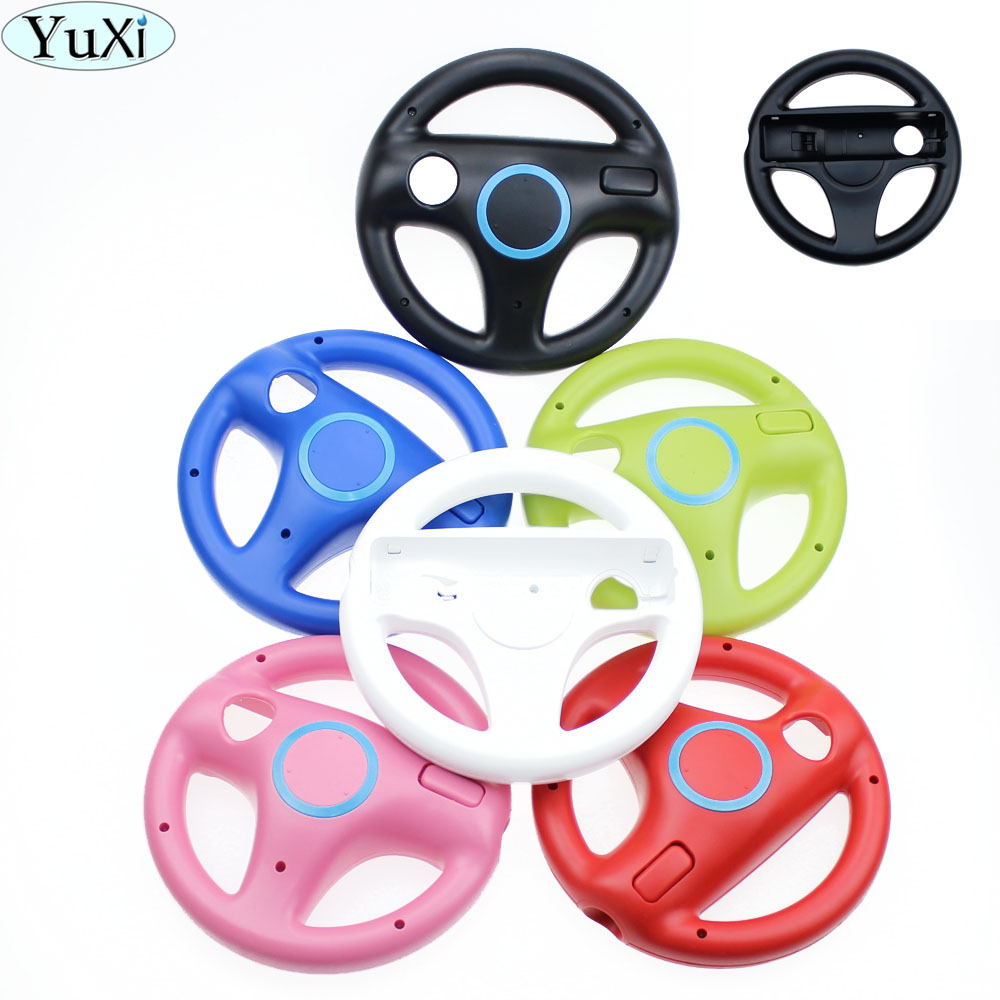 Steering Wheel For Nintendo Wii Games Remote Controller Console Super Mario Kart Game Accessories black white pink
