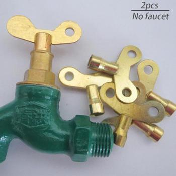 Llave de grifo 2 uds, llave de fontanería con orificio de purga, duradera, de alta calidad, cerradura especial, toma cuadrada, mini llave de radiador de latón #1205