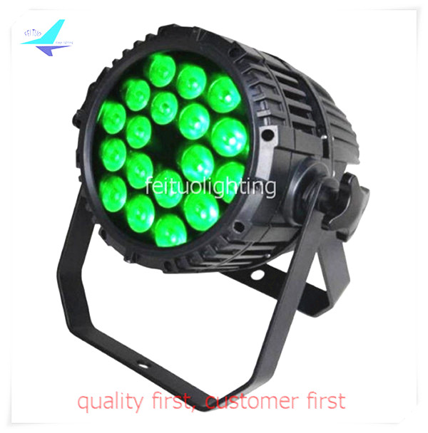 free shipping 8pcs/lot RGBWA UV Stage Lighting 18x18w Led Par Light Lumiere Wash Uplight DMX IP65 Par64 Outdoor Show DJ Par Can