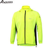 ARSUXEO 2017 Outdoor Sports Men Running Jacket Windproof Waterproof Pack Cycling Jacket Bike Bicycle Clothing Coat