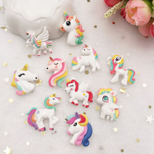 New 10pcs Resin Lovely Beautiful Big Unicorn Flat back Stone appliques DIY Wedding scrapbook Accessories crafts SW59