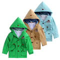 Boy trench coat  the spring and autumn 2016 spring new paragraph dust coat grows pure cotton children's children's men treasure