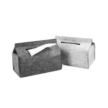Felt Tissue Box Paper Towel Case Living Room Desk Car Napkin Household Pumping Container Storage Trays Holder Home Office Decor image