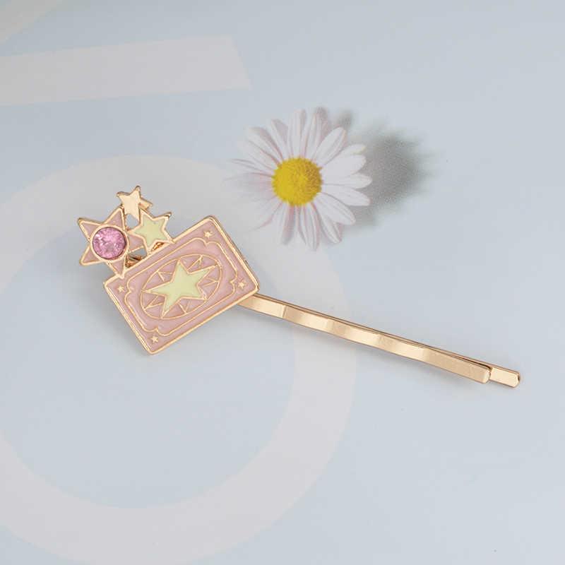 Мисс Зои Card Captor Sakura Clow карты крылья палочка со звездочкой птица керо заколки анимация Шпилька зажим для волос Тиара Девушка для женщин