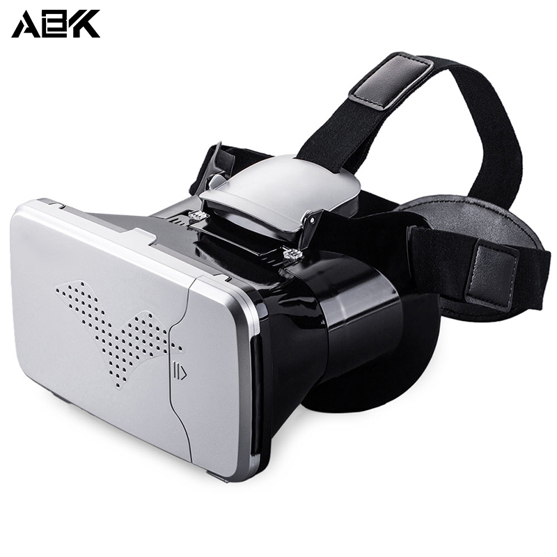 ALBK V6 3D Virtual Reality Head-Mounted Video Glasses with 90 Degree View Angle for 3.5 – 6 inches screen smartphone