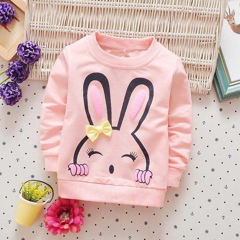 2017 New spring autumn children clothing baby girls infants Cartoon cotton long sleeve Sweet princess T-shirt tops tee S2772