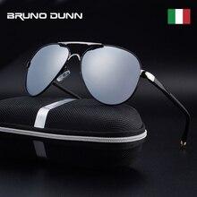 e631fc6be Bruno dunn alumínio do vintage hd óculos de sol polarizados marca clássica  óculos de sol revestimento masculino lente condução t.