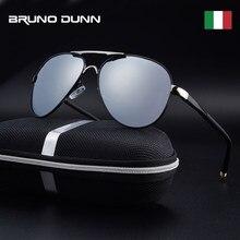 Bruno dunn óculos de sol masculino polarizado, óculos de sol de alumínio para homens, aviador, 2020