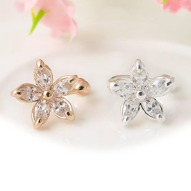 Earrings Official Website 1pc Womens Fashion Cz Crystal Gold Silver Flower U Shape Ear Cuff Clip-on No Piercing Earring Wrap Clip For Women