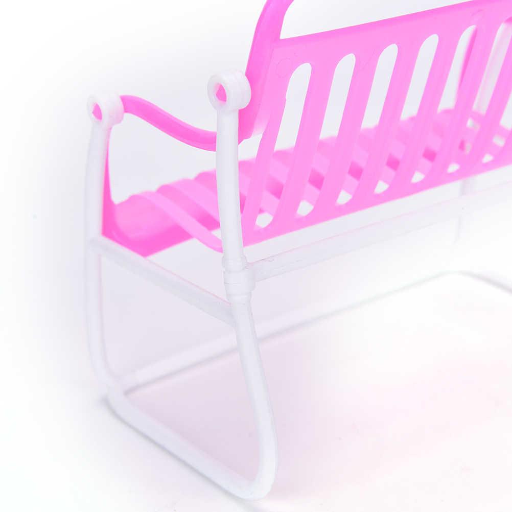 1 pcs Rosa Boneca Princesa Da Boneca Casa Móveis Móveis Sofá Poltrona Cadeira de Salão Para A Menina Acessórios Meninas Melhores Presentes