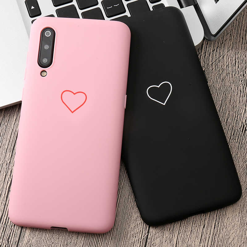 Cute 3D Silicone Love Heart Pink Black Case For Huawei Honor 8 5A V8 6X V9 8 lite 5X 5C 6A 9 7X P Smart 2019 Cover Coque Fundas