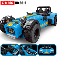 AIBOULLY 8612 ideas racers Caterham Seven 620R Sports Car And F430 Sports Model Toys Blocks Brick 21307 for children