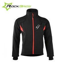 RockBros Men Winter Fleece Thermal Warm Cycling Jersey Bicycle Bike Wind Coat Windproof Anti-sweat Rainproof Riding Bike Jacket
