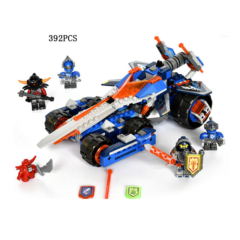 ФОТО Hot Nexus Knights Clay Rumble Blade chariot building block robot fire devil figures bricks compatible lego70315 toys for boys