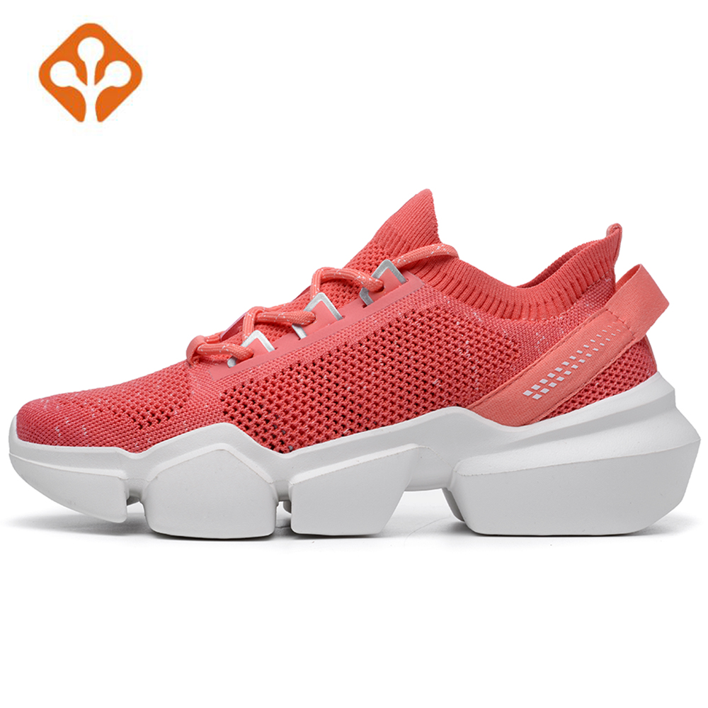 High Quality Womens Outdoor Thick Sole Trekking Running Shoes Sneakers For Women Ladies Gym Sports Trainer Snekaers Woman