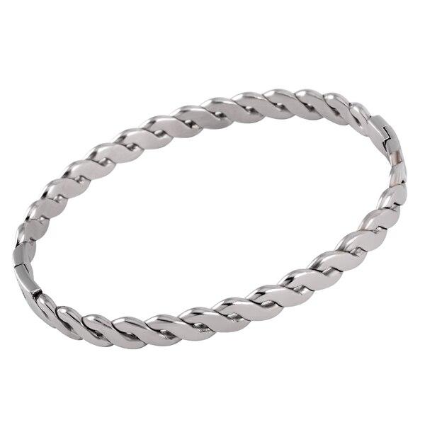 RO-3 Fashion Women/Men Cuff Bracelet Stainless Steel Lover