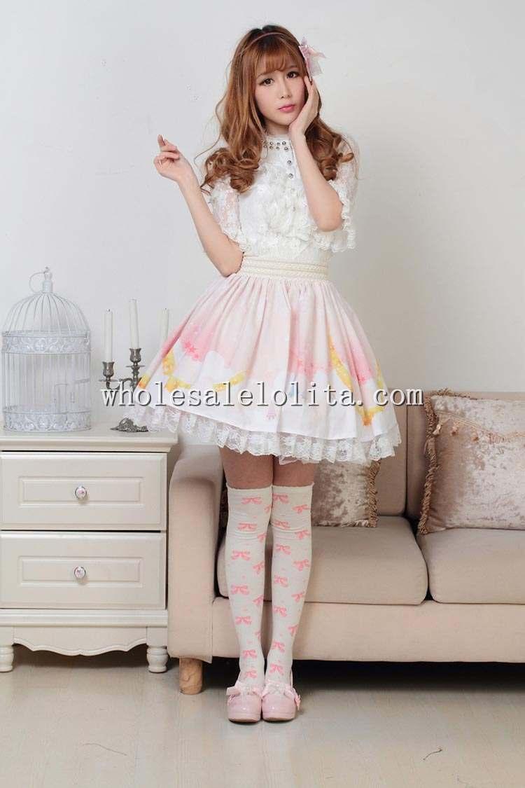 Falda Multiple Lolita De Cuento Sweet Hadas Pink Sk 41wPnYFqH