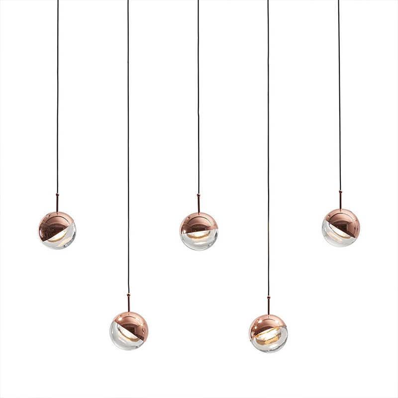 Современный светодиодный подвесной светильник, Хрустальная стеклянная ручная лампа, скандинавские подвесные лампы для гостиной/ресторана/спальни/домашнего освещения