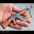 "1/6 Scale Model Weapon Toys Metal AK47 Model Kit With Bayonet for 12"" Military Action Figure Soldier Toys Parts Accessory"