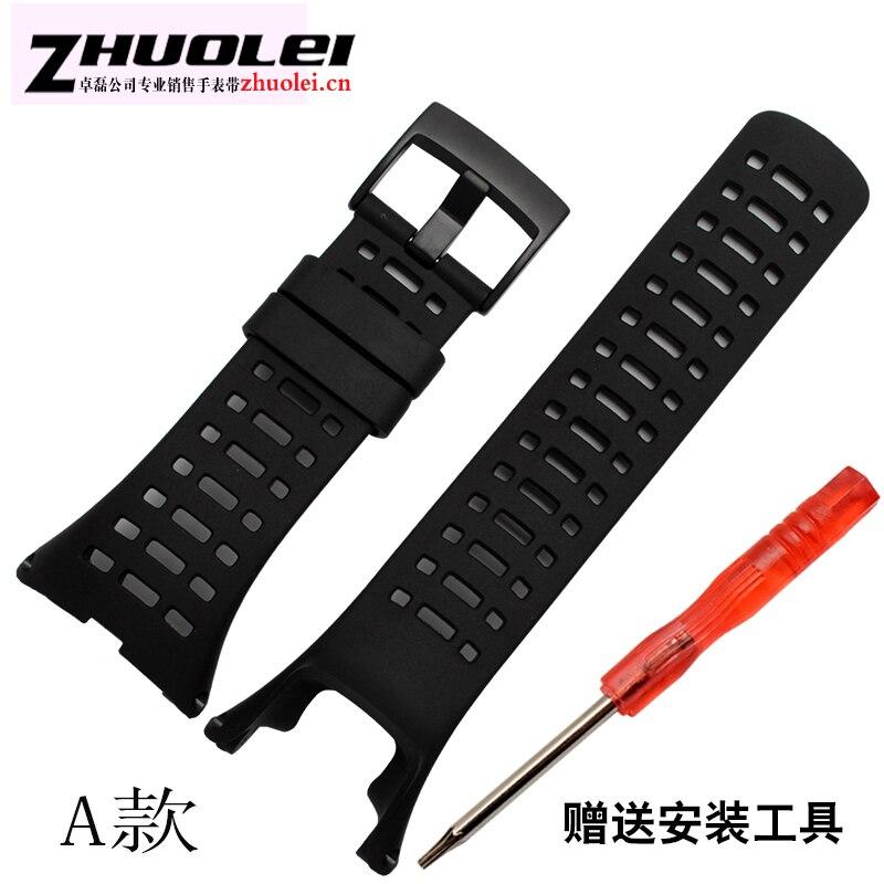 все цены на hot sell Watchband SUUNTO CORE & SUUNTO Ambit 1 2 3 2R 2S Men Watch's Rubber Strap stainless steelBuckle + Screwdriver онлайн