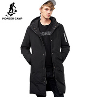 Pioneer Camp waterproof warm winter brand clothing long thick coat male quality hooded parkas fashion men outerwear