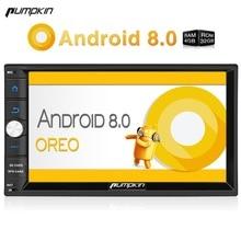 Тыквы 2 Din 7 »Android 8,0 универсальный автомобильный Радио нет dvd-плеер gps навигации 4 ГБ Оперативная память стерео FM Rds Wi-Fi 4 г DAB + головного устройства