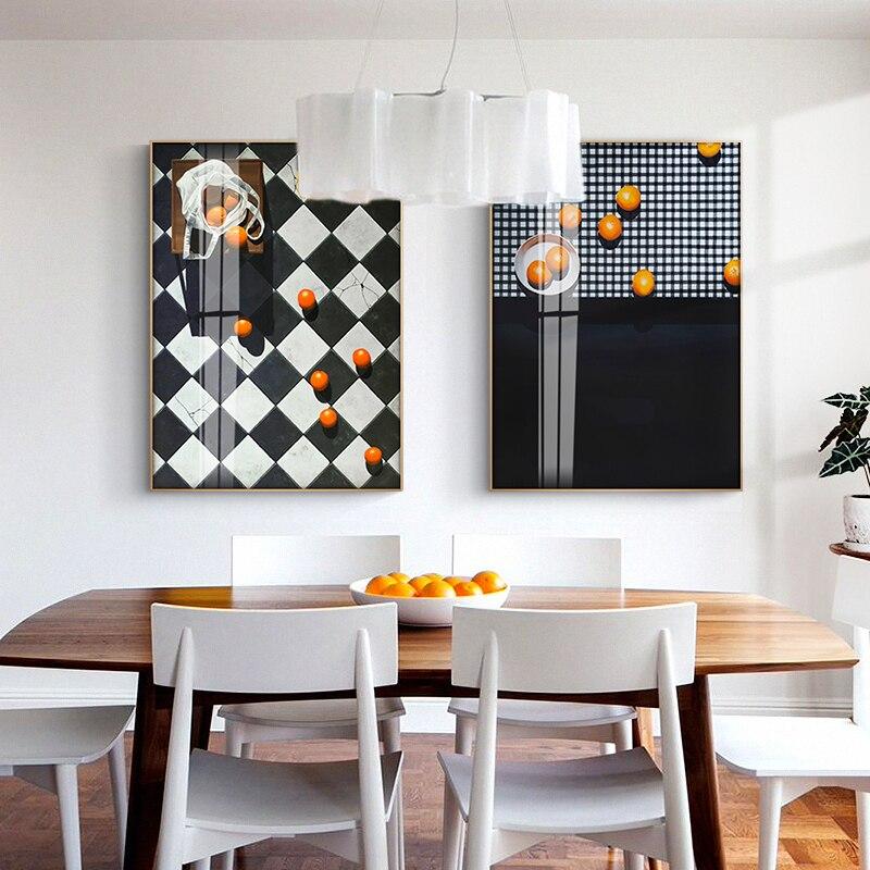 Современные American Living декоративная живопись для комнаты Ресторан висит картина модель номер желтый рисунок на стену без рамки