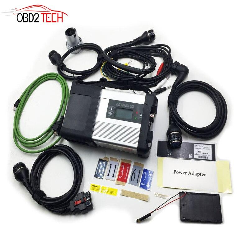 MB SD звезда C5 SD подключения компактный 5 звезд диагностики с WI-FI для легковых и грузовых автомобилей Multi-Langauge без программного обеспечения HDD