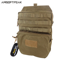 AIRSOFTPEAK MOLLE 1050D Nylon Tactical Hydration Pouch 3L Water Pack Tactical Vest Hydration Backpack Black CB