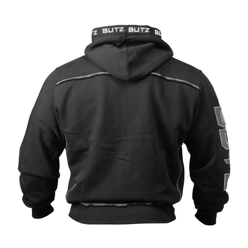 Thin Fitness Black Hooded Sweatshirt Big Pocket Bodybuilding Hoodies Men Gym Sweatshirt For Men Zipper Long Sleeve Hoodies in Hoodies amp Sweatshirts from Men 39 s Clothing