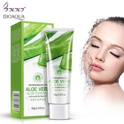 Aloe vera gel hidratante para o rosto anti rugas creme acne cicatriz acne tratamento de clareamento da pele cuidados com a pele protetor solar cosméticos bioaqua creme para o rosto